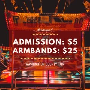 Washington County Fair Admission Prices