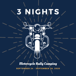 Motorcycle Rally Camping September 2020 Fayetteville Arkansas - 3 Nights