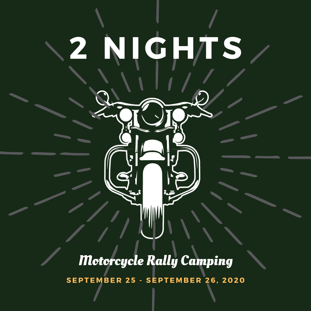 Motorcycle Rally Camping September 2020 Fayetteville Arkansas - 2 Nights